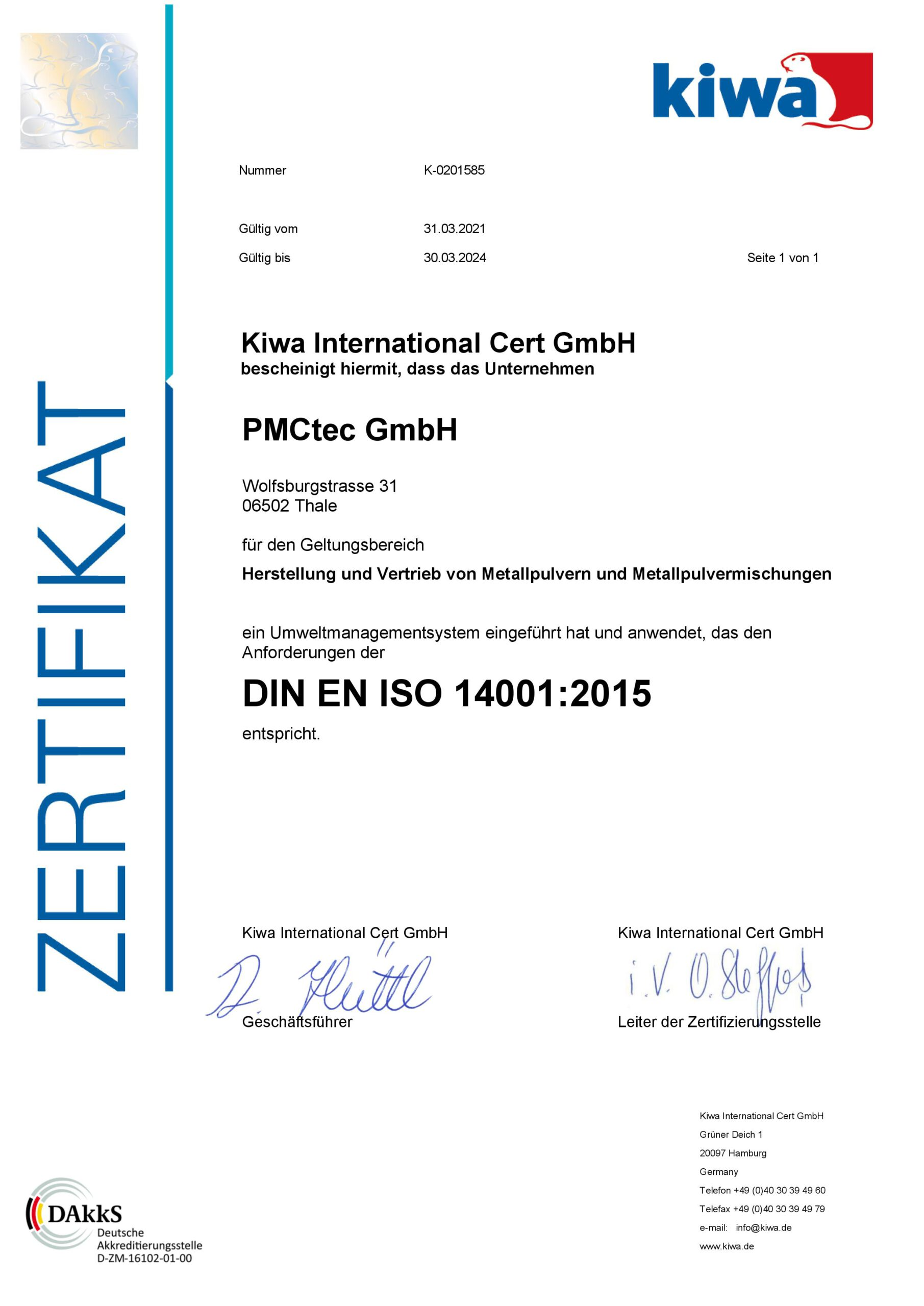 ISO14001 Deutsch